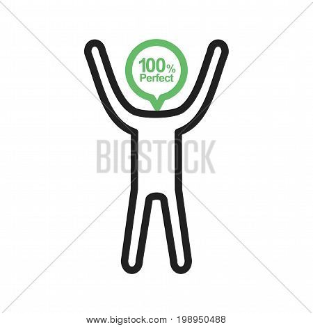 Idealist, perfectionist, inspection icon vector image. Can also be used for Personality Traits. Suitable for web apps, mobile apps and print media.