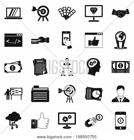 Fee for the project icons set. Simple set of 25 fee for the project vector icons for web isolated on white background