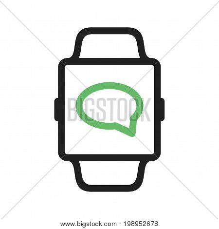 Message, watch, app icon vector image. Can also be used for Smart Watch. Suitable for mobile apps, web apps and print media.