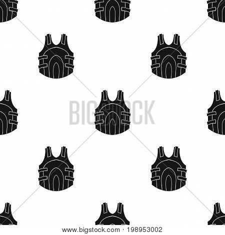Paintball vest icon in black design isolated on white background. Paintball symbol stock vector illustration.