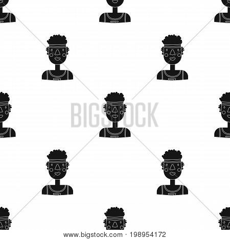 Sportsman icon in black style isolated on white background. People of different profession symbol vector illustration.