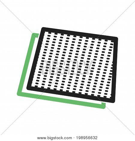 Sandpaper, refinishing, surface icon vector image. Can also be used for Hand Tools. Suitable for use on web apps, mobile apps and print media. poster