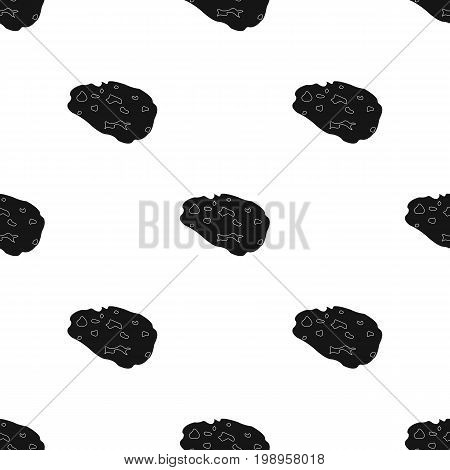 Meteorite icon in black design isolated on white background. Planets symbol stock vector illustration.