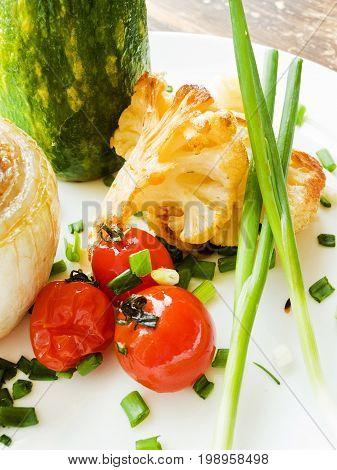 Stufed Onion And Zucchini