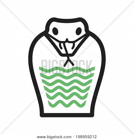 Snake, cobra, king icon vector image. Can also be used for Animal Faces. Suitable for mobile apps, web apps and print media.