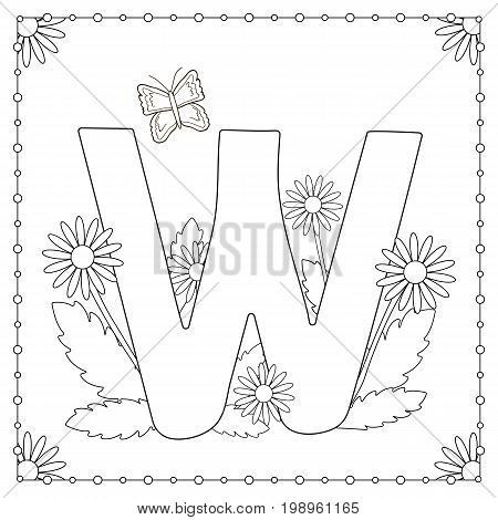 Alphabet coloring page. Capital letter