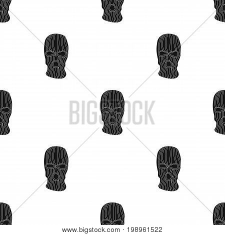 Mask to close the face of the offender from witnesses.Prison single icon in black style vector symbol stock web illustration.