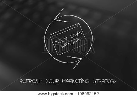 Refresh Symbol With Your Own Website Pop-up, Marketing Strategy Reload