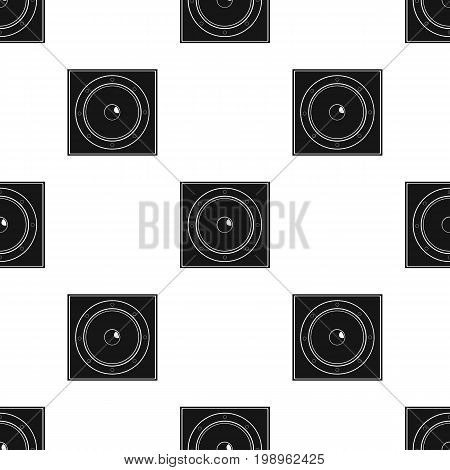 Load speaker icon in black design isolated on white background. Pub symbol stock vector illustration.