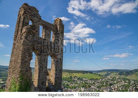 Grevenburg Traben-Trarbach on the Moselle picture panorama