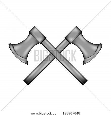 Axe sign icon on white background. Vector illustration.