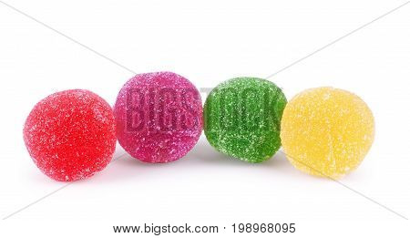 Jujube colored balls isolated on a white background