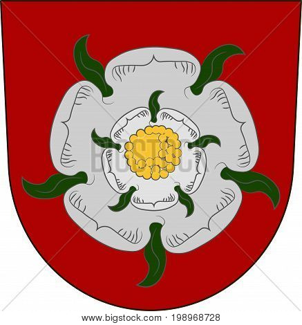 Coat of arms of Rosenheim in Upper Bavaria of Germany. Vector illustration from the