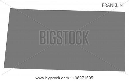 Franklin County Map Of Alabama Usa Grey Illustration Silhouette