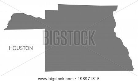 Houston County Map Of Alabama Usa Grey Illustration Silhouette