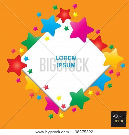 Vector Design Square Elements For Template. Frame Of Square For Website Or Business Template. Colorf