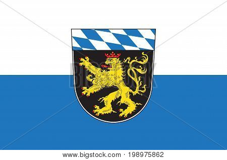 Flag of Upper Bavaria is one of the seven administrative districts of Bavaria Germany. Vector illustration