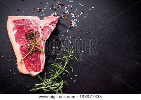 Raw Marbled Meat Steak