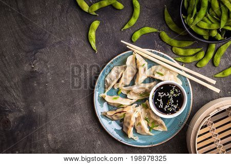Chinese Dumplings Background
