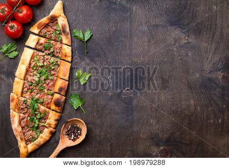 Traditional Turkish Bread Pide