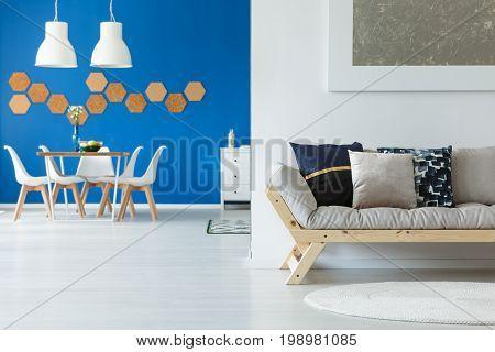 Eco Blue Contemporary Loft Apartment
