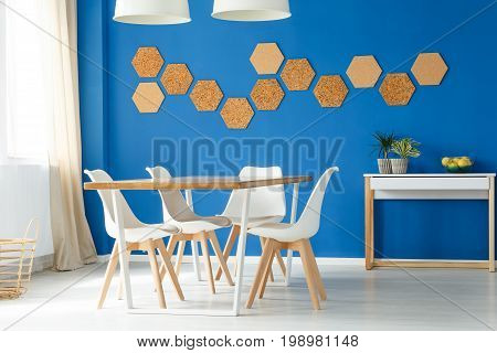 Blue Family Dining Space Design
