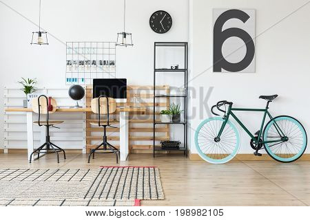 Metal Rack With Retro Accessories