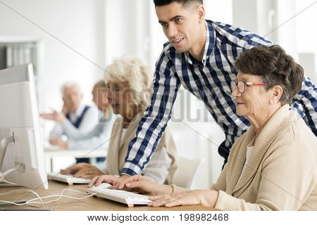 Lady Having Problem With Task