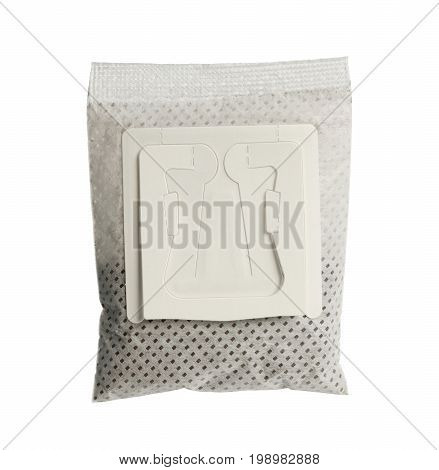 Drip coffee bag isolated on white background