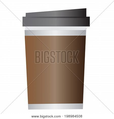 disposable coffee cup on white background. disposable coffee cup sign. flat style design.
