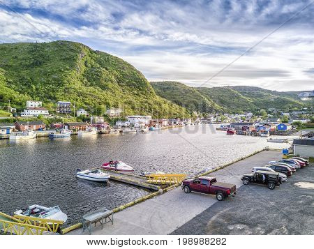 Coast In Petty Harbour At Sunset, Newfoundland, Canada