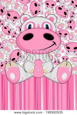 Cartoon Hippo 8