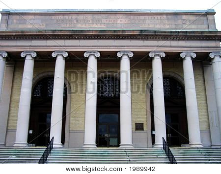 Large Building with Pillars