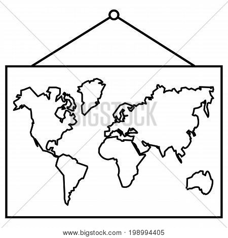 Vector Icon - School Geographical Map