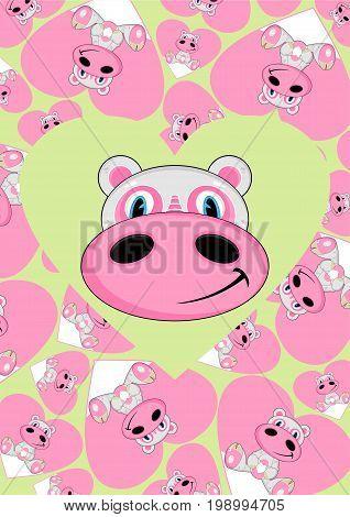 Cartoon Hippo 15