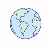 global earth planet to geography ubication vector illustration poster