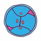 biology genetic embryo cells division vector illustration poster