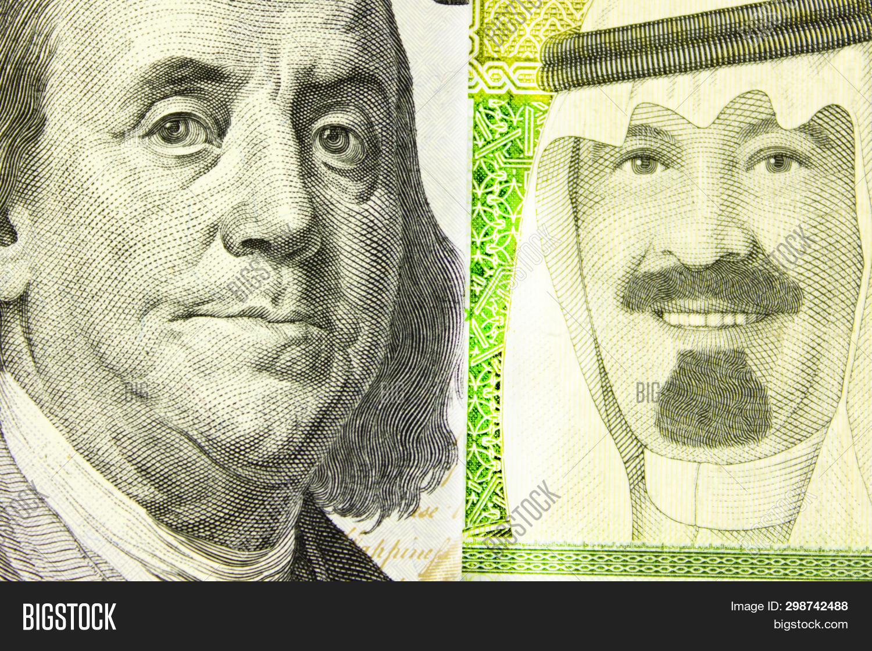 100 Us Dollars 1 Saudi Image Photo