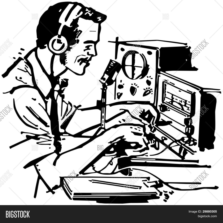ham radio operator retro clipart vector photo bigstock rh bigstockphoto com ham radio clipart images ham radio clip art images