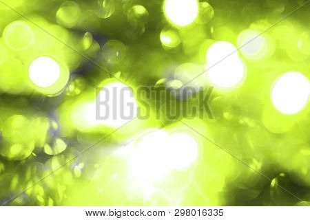 fantastic lime holiday chaplet glitter festal bokeh texture - abstract photo background poster