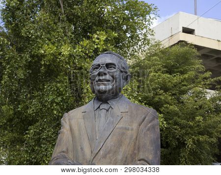 Bayamon/puerto Rico - February 26, 2019: Monument To Tv Producer And Comedian  Paquito Cordero