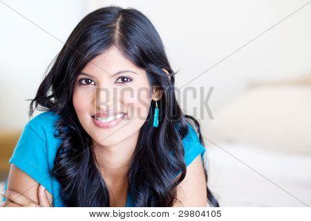beautiful young hispanic woman portrait