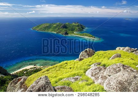 View Of Kuata Island From Vatuvula Volcano On Wayaseva Island, Yasawa Islands, Fiji