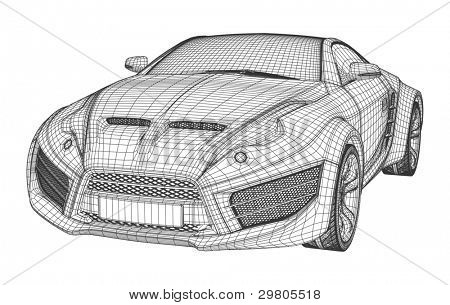 Sports car blueprint vector photo free trial bigstock sports car blueprint non branded concept car malvernweather Image collections