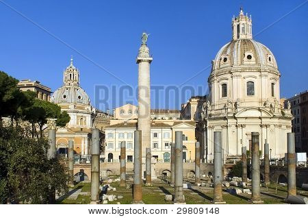 Ruins Of A Forum Of Trajan,rome