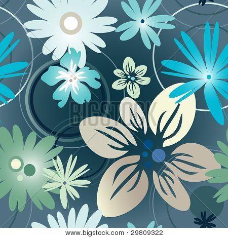 Floral Pattern In Blue