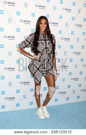 LOS ANGELES - APR 25:  Winnie Harlow at the WE Day California at The Forum on April 25, 2019 in Los Angeles, CA