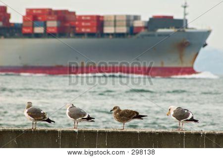 Frachtschiff übergeben San Francisco pier
