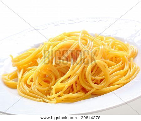Plate Of Fresh Spaghetti