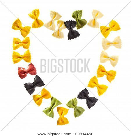 Pasta Heart Shaped